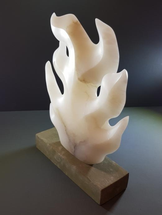 Alabaster sculpture carved by Samar Sharif